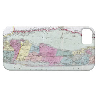 Historic 1855-1857 Travellers Map of Long Island iPhone 5 Case