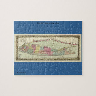 Historic 1855-1857 Travellers Map of Long Island Jigsaw Puzzle