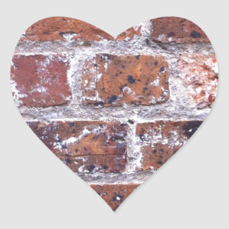 Historic 18th Century red brick wall Heart Sticker
