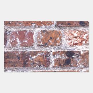 Historic 18th Century red brick wall Rectangular Sticker