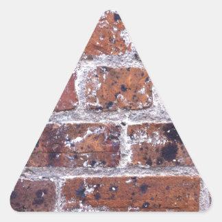 Historic 18th Century red brick wall Triangle Sticker