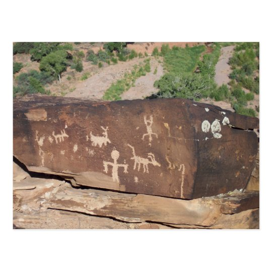 Historic American Petroglyphs postcard #2