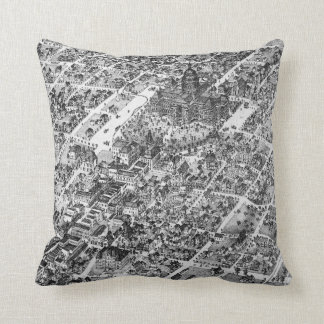 Historic Austin Map of 1873 Cushion