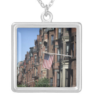 Historic back Bay Area, Boston, Massachusetts Silver Plated Necklace