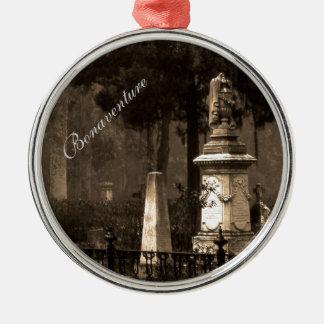 Historic Bonaventure Cemetery Silver-Colored Round Decoration