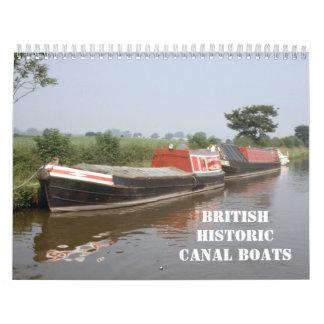 Historic British canal boats 2016 Calendars