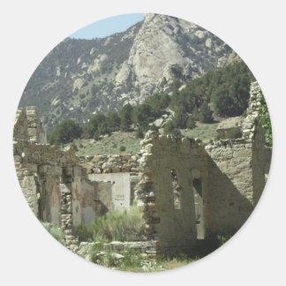 Historic Cabin Round Stickers