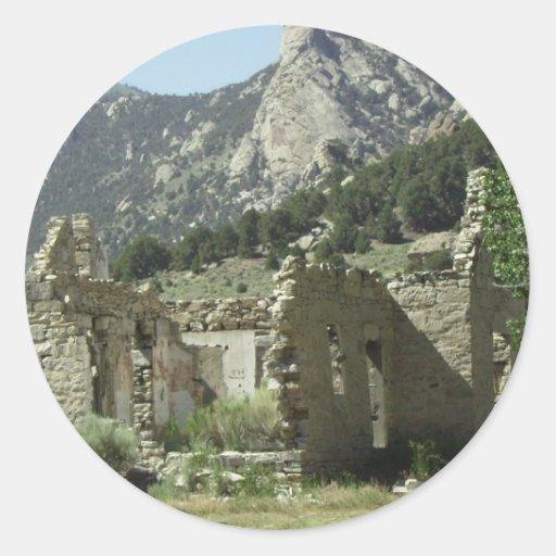 Historic Cabin Round Sticker