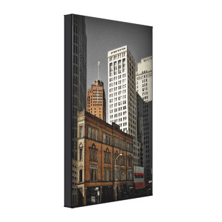 Historic Cadillac Square (Detroit) on Canvas Canvas Print