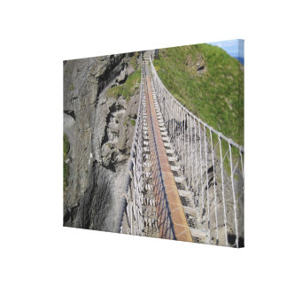 Historic Carrick-a-rede rope bridge, Northern Canvas Prints