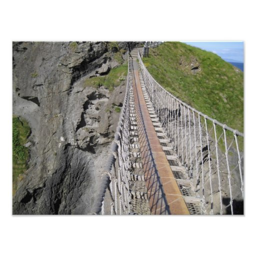 Historic Carrick-a-rede rope bridge, Northern Photographic Print