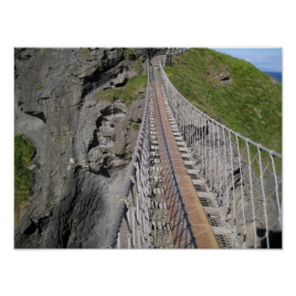 Historic Carrick-a-rede rope bridge, Northern Poster