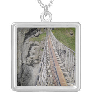 Historic Carrick-a-rede rope bridge, Northern Silver Plated Necklace