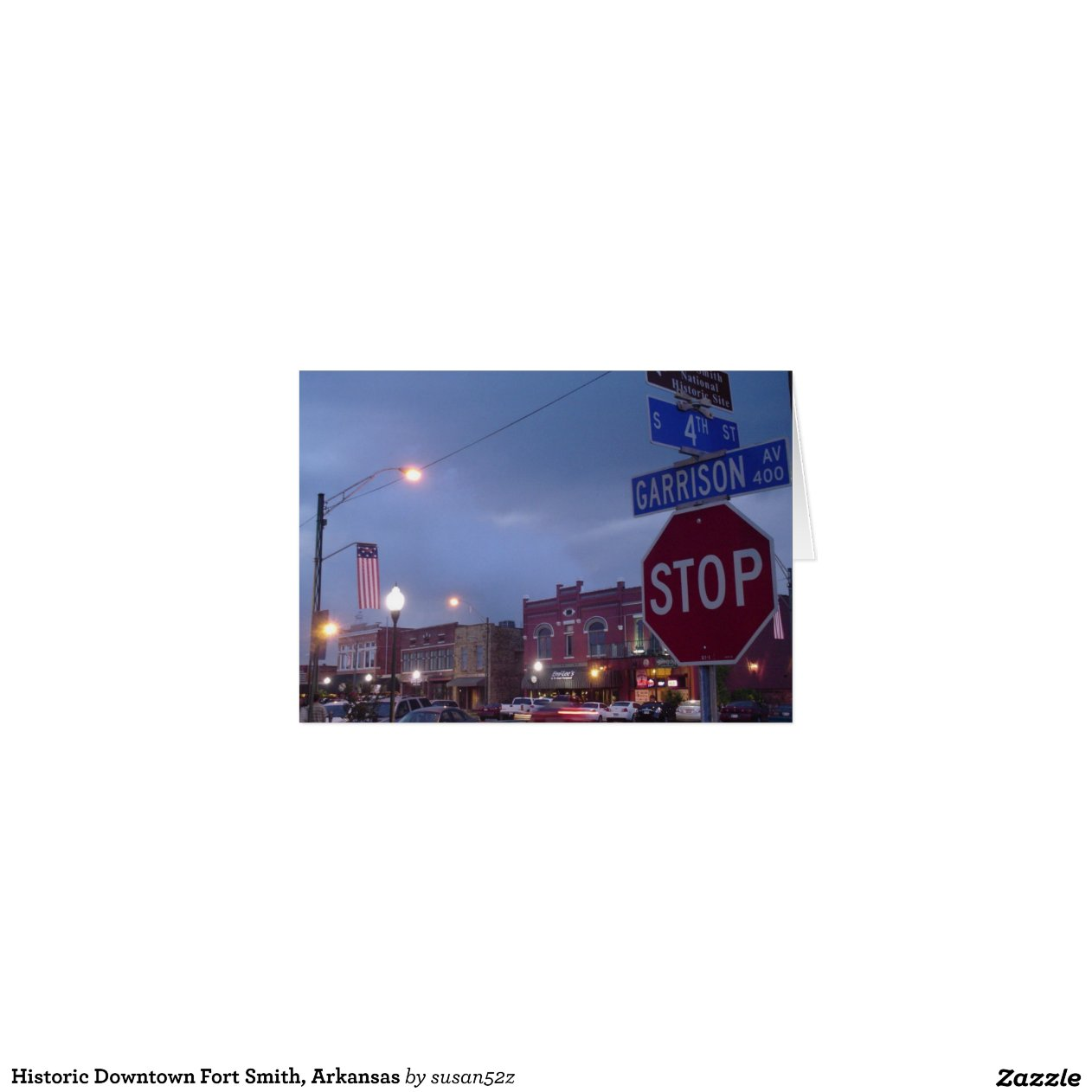 historic downtown fort smith arkansas zazzle