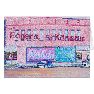 Historic Downtown Rogers, AR Greeting Card