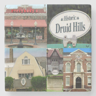 Historic Druid Hills, Atlanta Collage Coasters Stone Coaster