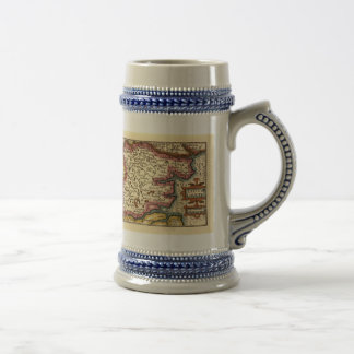 Historic Essex County Map, England Beer Stein