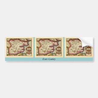 Historic Essex County Map, England Car Bumper Sticker
