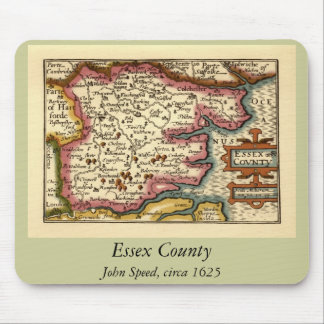Historic Essex County Map, England Mouse Mat