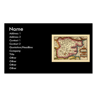 Historic Essex County Map, England Pack Of Standard Business Cards
