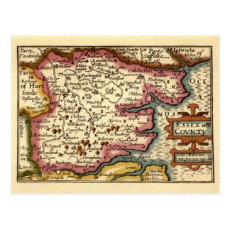 Historic Essex County Map, England Postcard