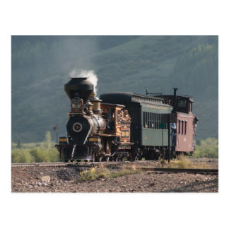"Historic ""Eureka"" Steams into Silverton, Colorado Postcard"