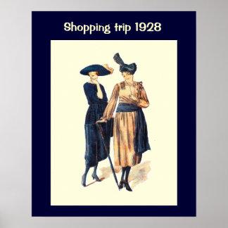 Historic Fashion 1928 Poster