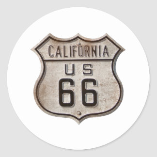 Historic Highway Road Sign Round Sticker