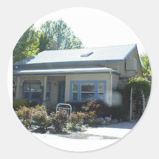 Historic Home in Yreka, California Classic Round Sticker