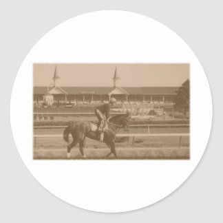 Historic Horse Racing Round Sticker