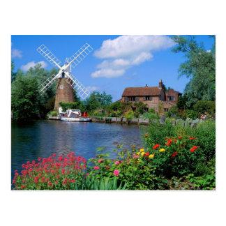 Historic Hunsett Mill in England Postcard
