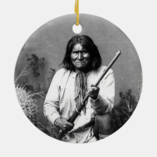 Historic Iconic Native American Indian Geronimo Christmas Ornament