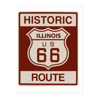 Historic Illinois RT 66 Postcard
