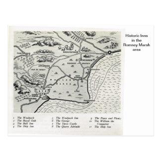 Historic Inns in the Romney Marsh area Postcard