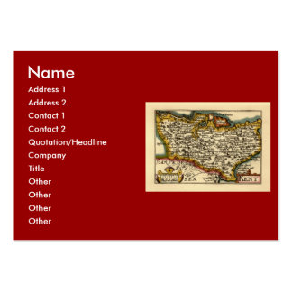 Historic Kent County Map, England Business Card