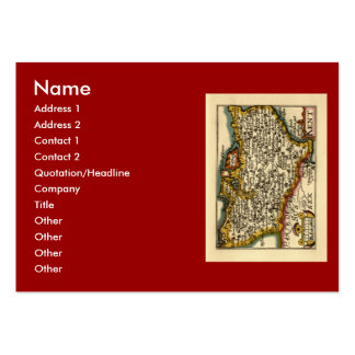 Historic Kent County Map, England Pack Of Chubby Business Cards