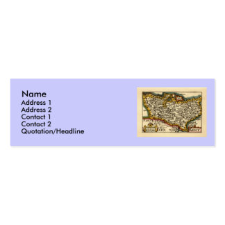 Historic Kent County Map, England Pack Of Skinny Business Cards
