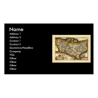 Historic Kent County Map, England Pack Of Standard Business Cards