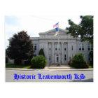 Historic Leavenworth KS - City Hall Postcard
