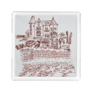 Historic Mansion | Saint-Enogat, Dinard, Brittany Acrylic Tray