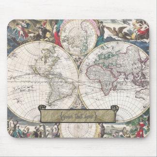 Historic Map - Nova Totius Terrarum Orbis Tabula Mouse Mat