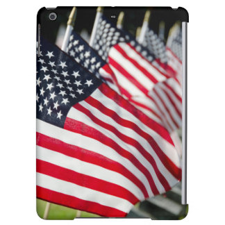Historic military cemetery with US flags Case For iPad Air