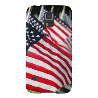 Historic military cemetery with US flags Galaxy S5 Cover