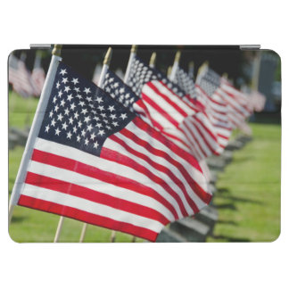 Historic military cemetery with US flags iPad Air Cover