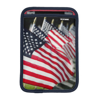 Historic military cemetery with US flags iPad Mini Sleeve