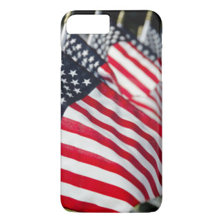 Historic military cemetery with US flags iPhone 8 Plus/7 Plus Case