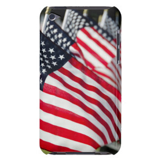 Historic military cemetery with US flags iPod Touch Case
