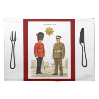 Historic military Uniforms, Coldstream Guards Placemat