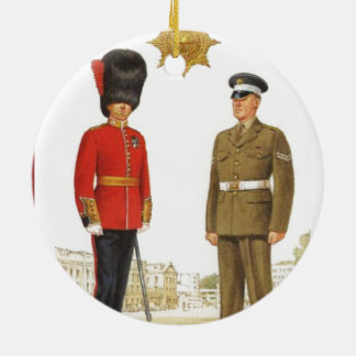 Historic military Uniforms, Coldstream Guards Round Ceramic Decoration