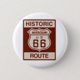Historic Missouri Rt 66 6 Cm Round Badge